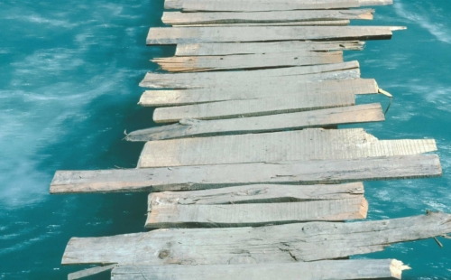 Wooden bridge - Pakistan